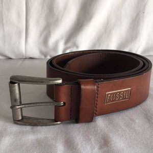 Fossil brown leather belt sz38